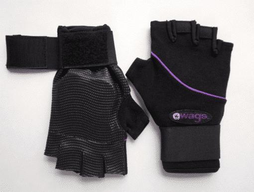 WAGs Ultra wrist support gloves open wrist strap