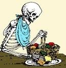 skeleton eating