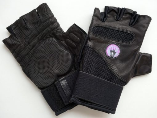 WAGs Fusion fitness gloves front and back view